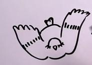 прыгающая птица рисунок