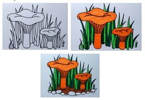 раскрашиваем оранжевым