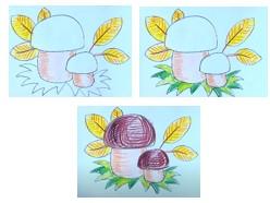 рисуем желтые листочки