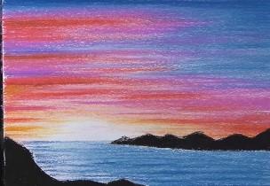 штрихуем море