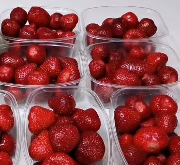 ягода в контейнерах