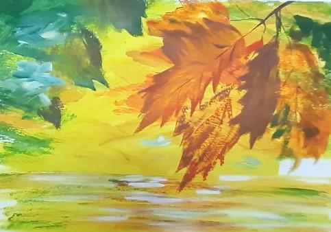 рисунок осенних листьев