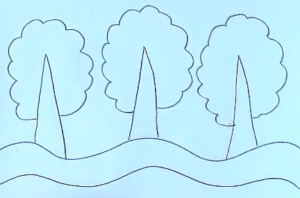 добавляем кроны деревьев