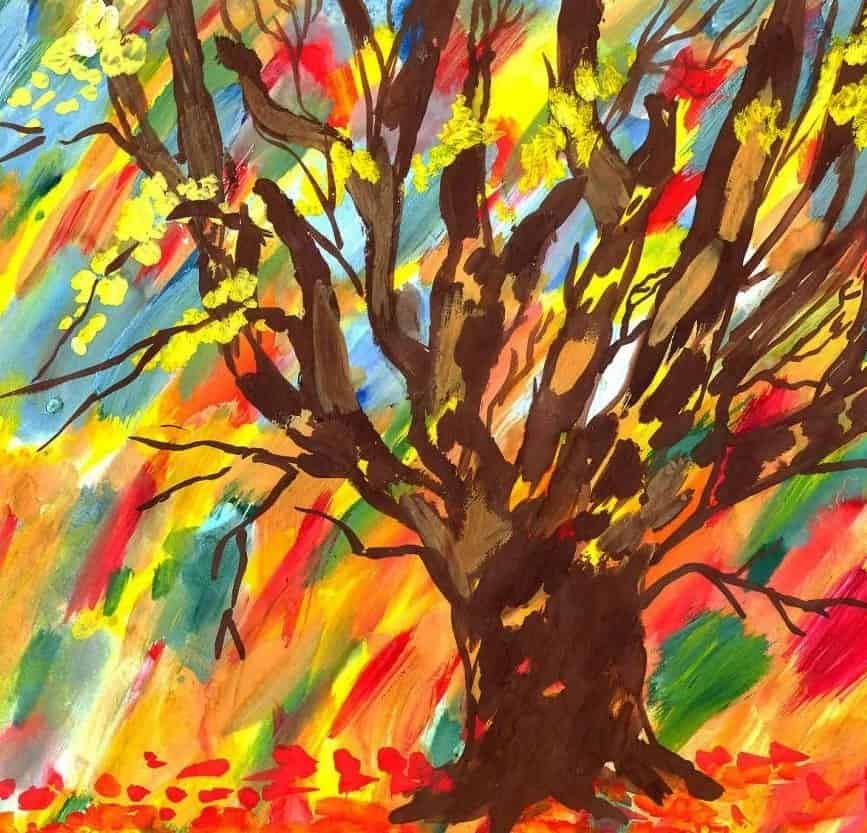 красочный дуб