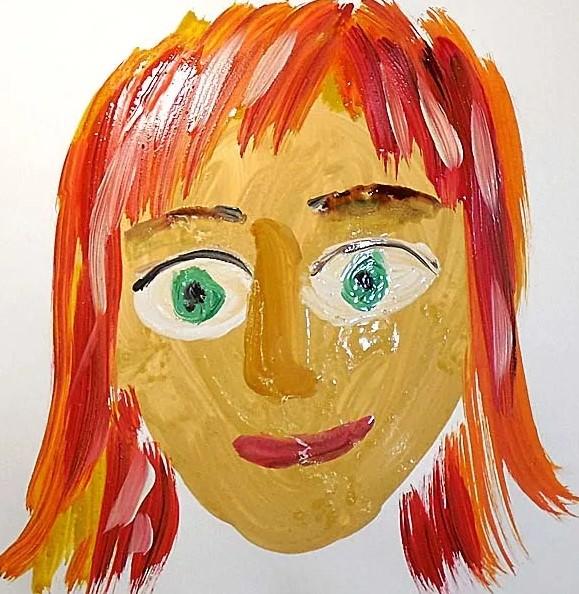 лицо мамы рисунок