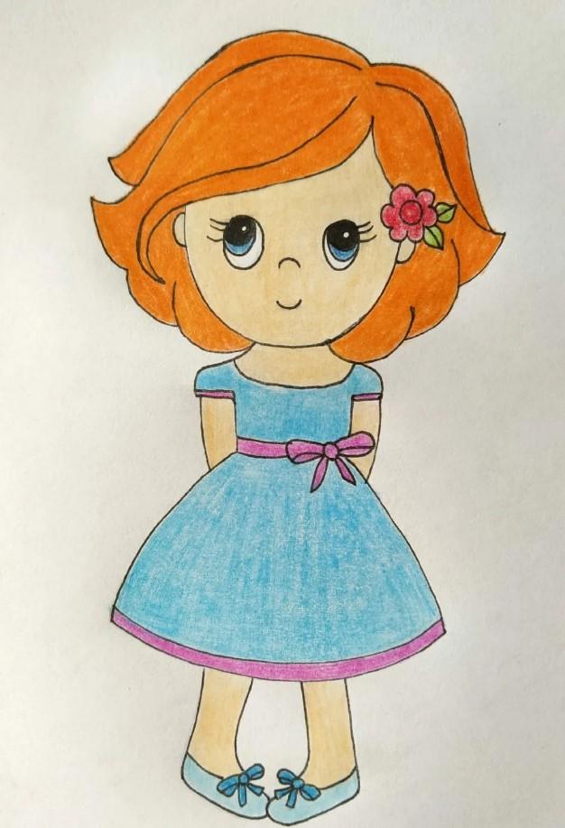 малышка в платье