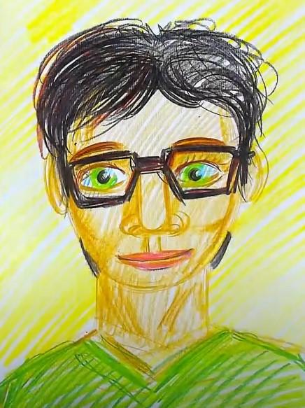 рисуем очки красками