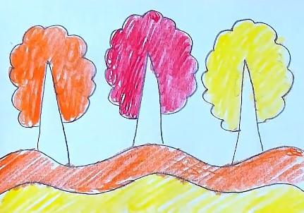 оранжевая и желтая волна