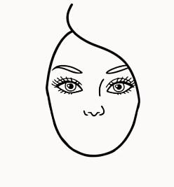 отмечаем нос