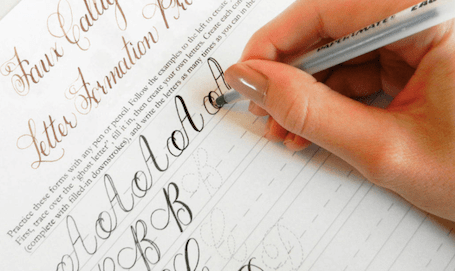 письмо в тетради