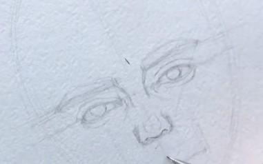 показываем брови на лице