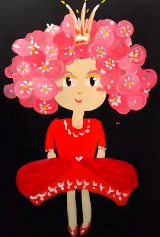 маленькая принцесса красками