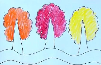 раскрашиваем кроны деревьев