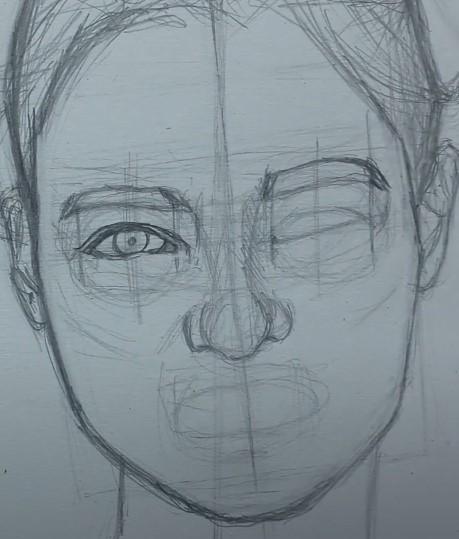 разметка глаза девушки