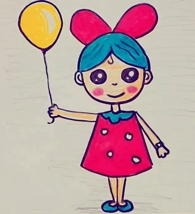 девочка с желтым шаром
