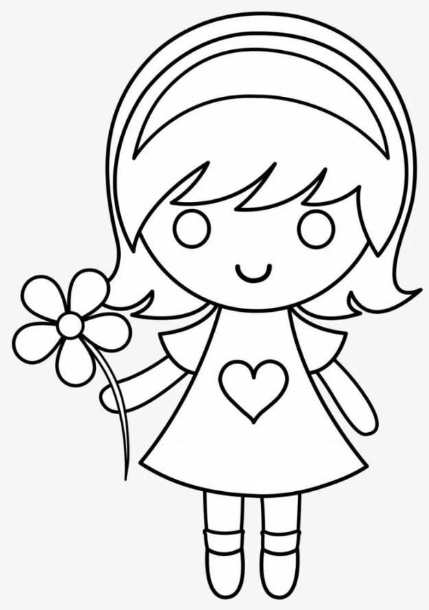 шаблон для распечатки девочка