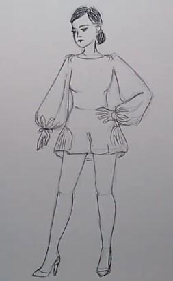 девочка в полный рост