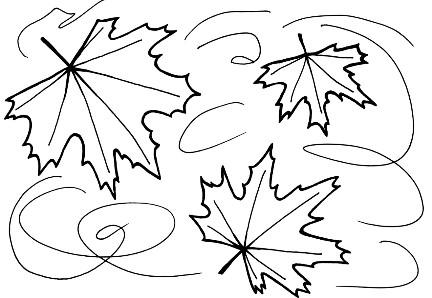 черно-белые листья на ветру