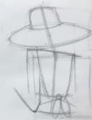 вырисовываем шляпу