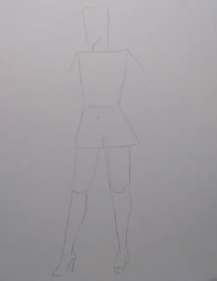 эскиз модели карандашом