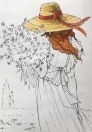 заливаем шляпку цветом