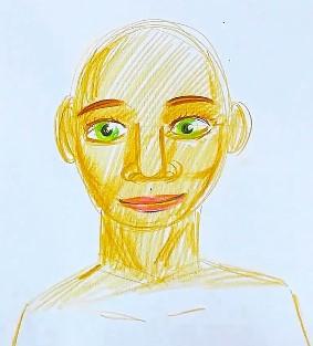 рисуем зеленые глаза