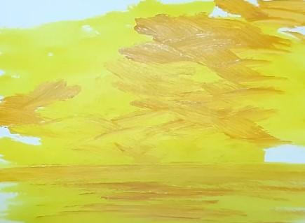 желтые мазки краски