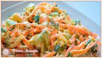 Салаты с корейской морковкой – 10 вкусных салатов с курицей, фасолью, колбасой, грибами