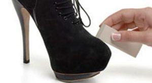 чистка обуви из замши