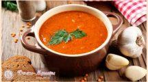 Суп из красной чечевицы с томатами