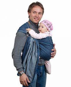 слинг с кольцами для ребенка