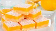 Лимонный пирог из песочного теста (Лимонные бары) – простой рецепт