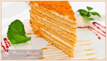 Классический торт медовик  со сметанным и заварным кремом— пошаговые рецепты