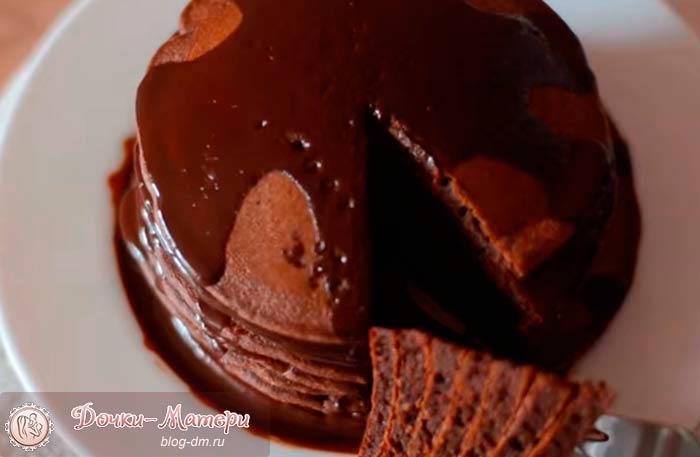 шоколадный-панкейк