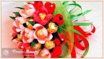 Букеты из конфет – 5 мастер-классов по созданию букетов своими руками
