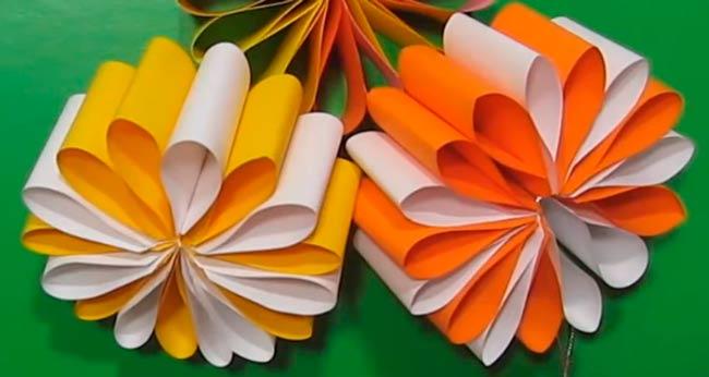 Как просто сделать цветок из бумаги своими руками фото 23