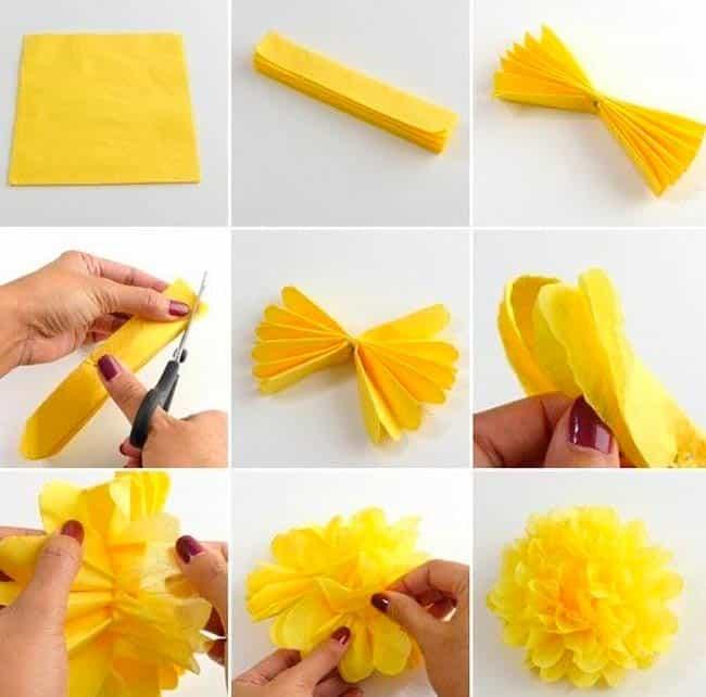 Как просто сделать цветок из бумаги своими руками фото 135