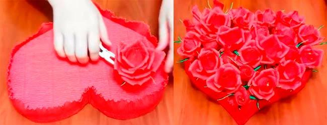 сердце-из-роз