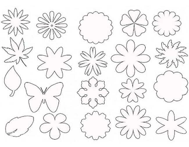 Цветы из бумаги своими руками шаблоны 922