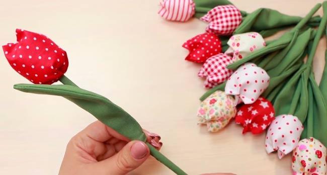 тюльпан-из-ткани