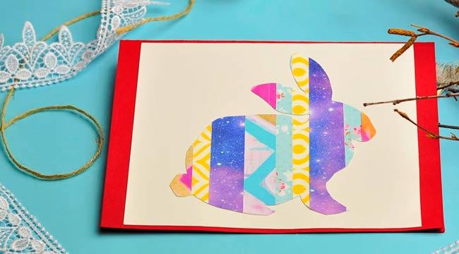 открытка-с-пасхальным-кроликом