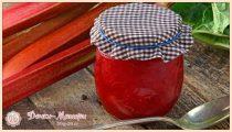 Варенье из ревеня – 7 рецептов приготовления в домашних условиях на зиму