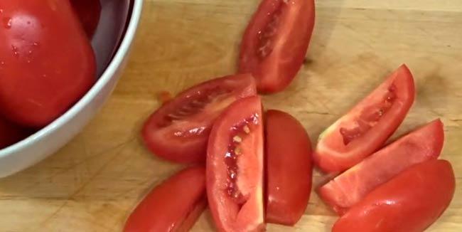 помидоры-дольками