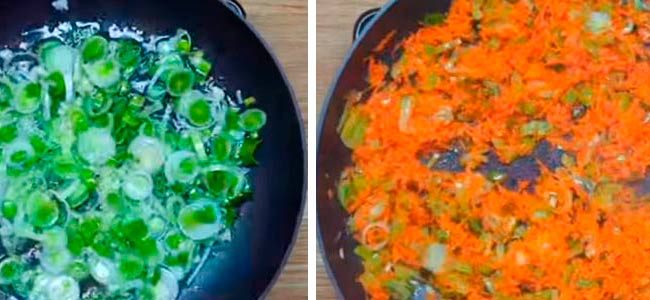 обжариваем-лук,-чеснок,-морковь-и-перец