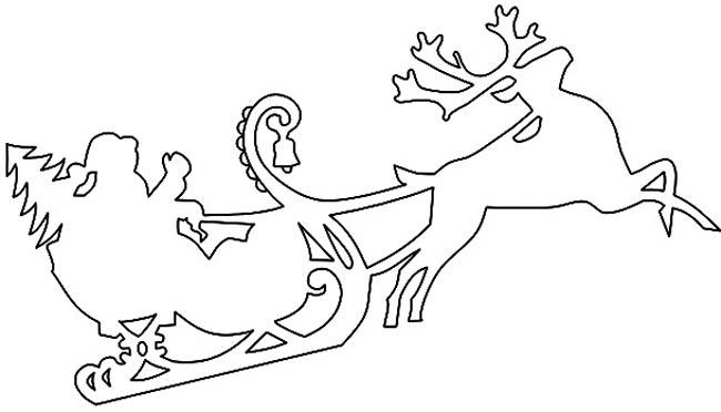 Сани,-олени-елка