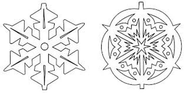 две-снежинки