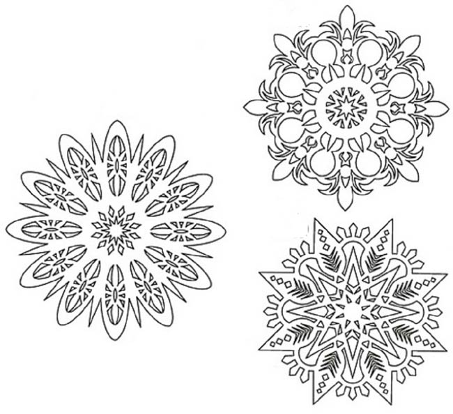 круглые-снежинки