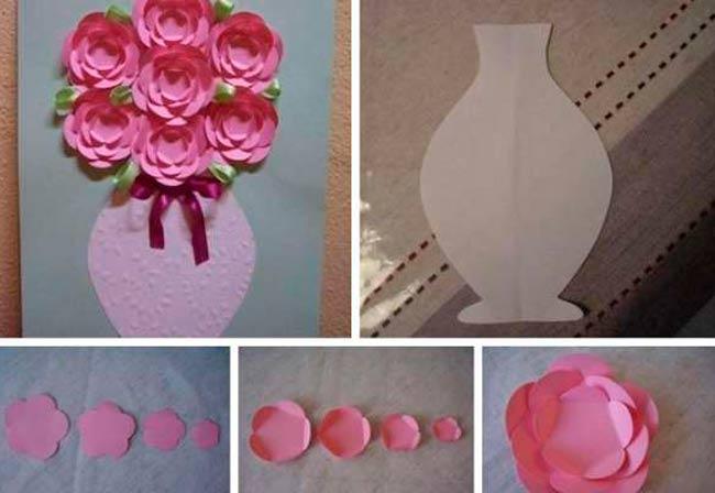 открытка с розами на день матери своими руками облик