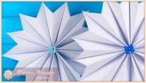 Объемные снежинки из бумаги на Новый год  2019 – схемы и шаблоны для вырезания