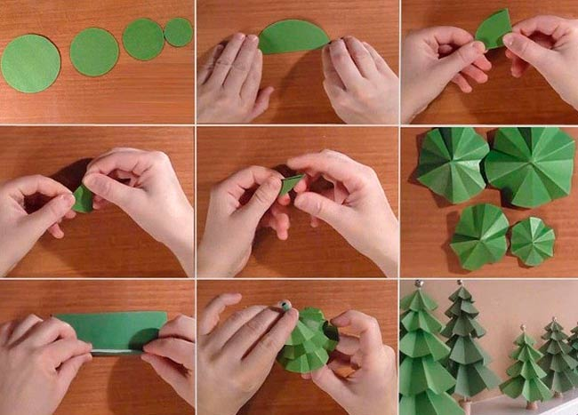 елка-из-зеленой-бумаги